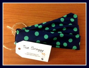 Polka Dot Scoggy with Tag