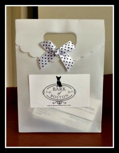 Boston white packaging