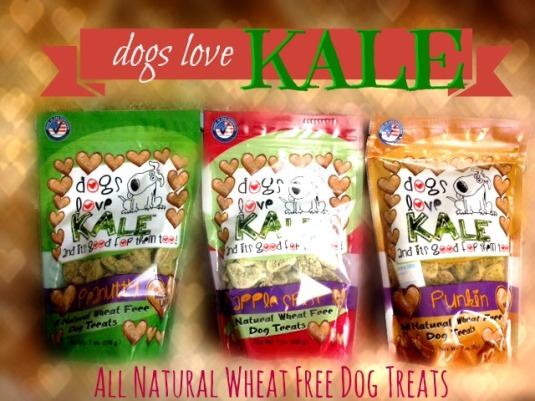Dogs Love Kale, wheat free dog treats, gluten free dog