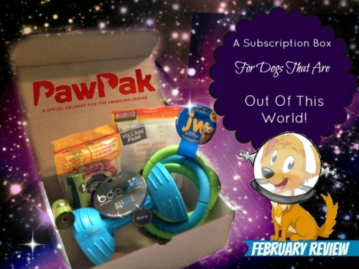 PawPak Review, February PawPak Review, PawPak Canada, Dog Subscription Box,