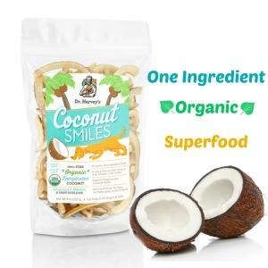 Coconut Smiles, Dr Harveys, Coconut Dog treats, Natural Dog Treats, Organic Dog Treats, Organic Dog Treats, Gluten Free Dog Treats
