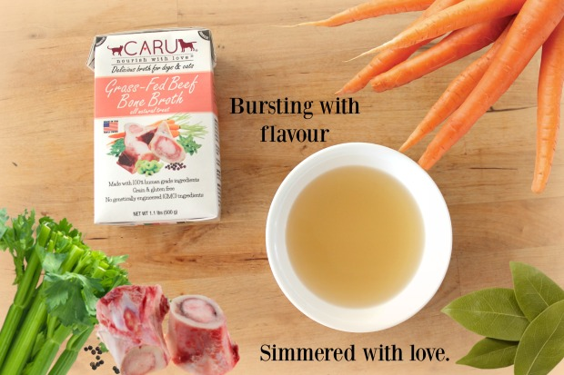 Caru beef bone broth, Caru stew, Give a dog a bone blog,